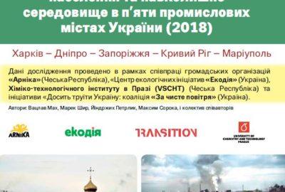 Вплив забруднення на здоров'я населення та навколишнє середовище в п'яти промислових містах України