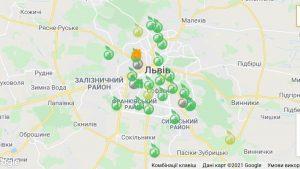 На карті EcoCity тепер можна спостерігати за даними мережі ЛУН Місто Air